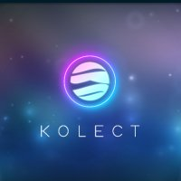 The logo of Terra Virtua Kolect is on top of a blue muted background with stars. It has the word Kolect written below it.