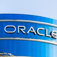 Oracle logo on its HQ in Silicon Valley
