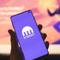 Kraken logo on smartphone screen