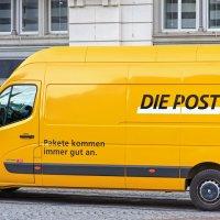 Swiss Post van, Zurich, Switzerland