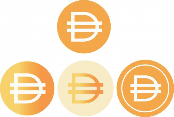 The logo of DAI cryptocurrency