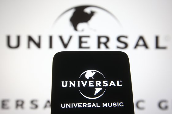 A photograph of the Universal Music Group logo