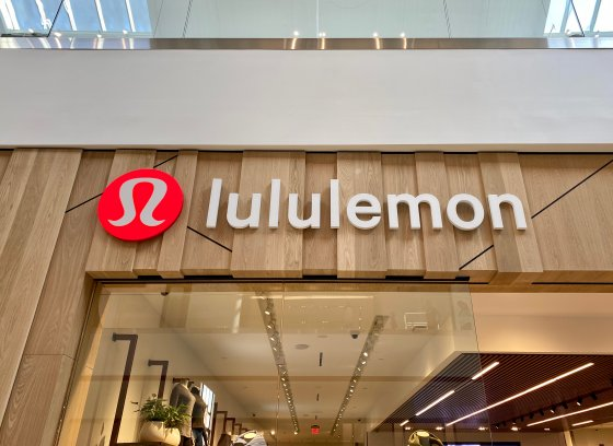 Exterior of a Lululemon store