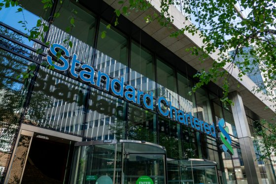 Exterior of a Standard Chartered office building