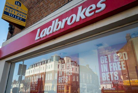 Ladbrokes betting shop front