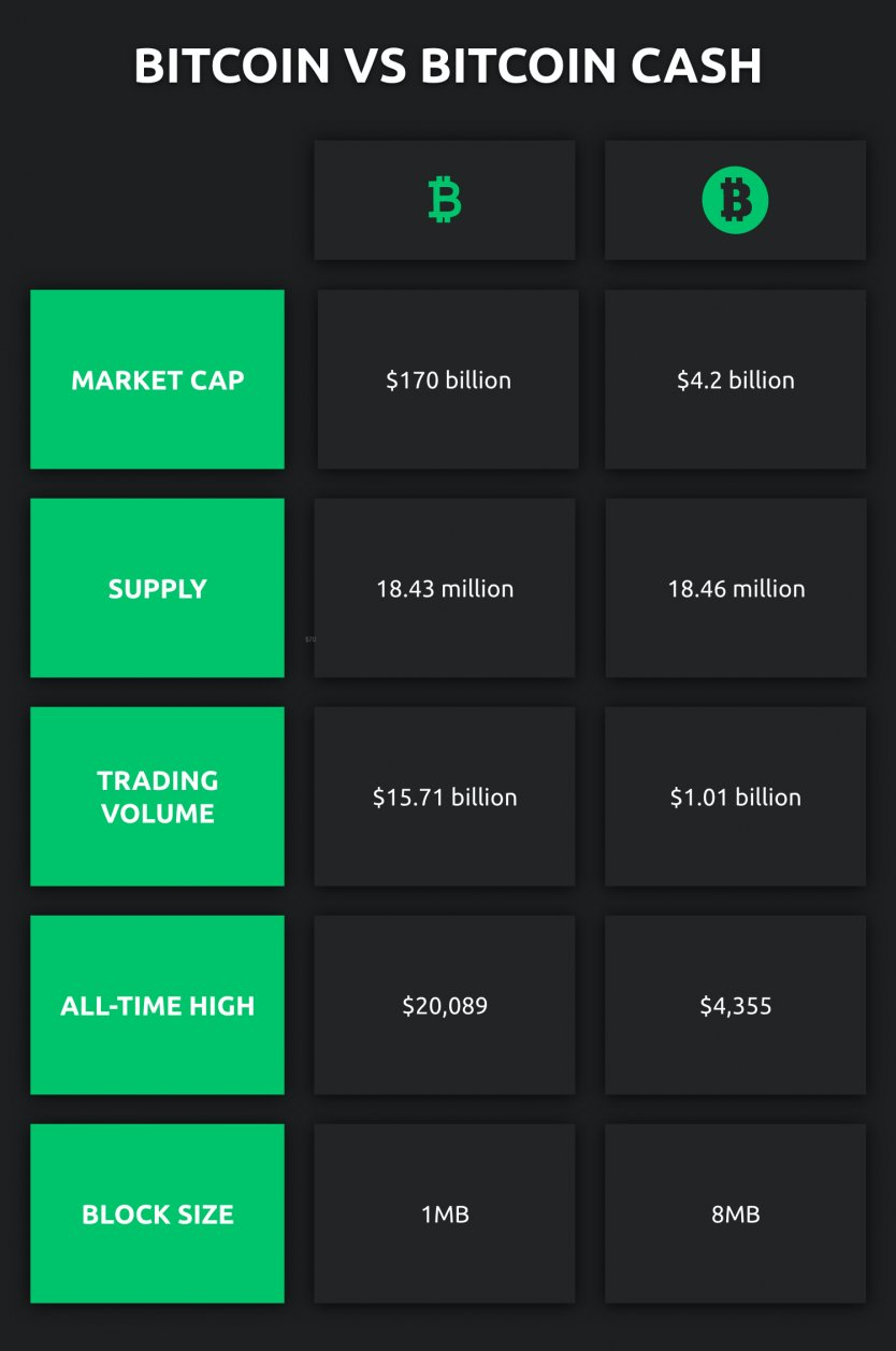 bitcoin cash market cap)
