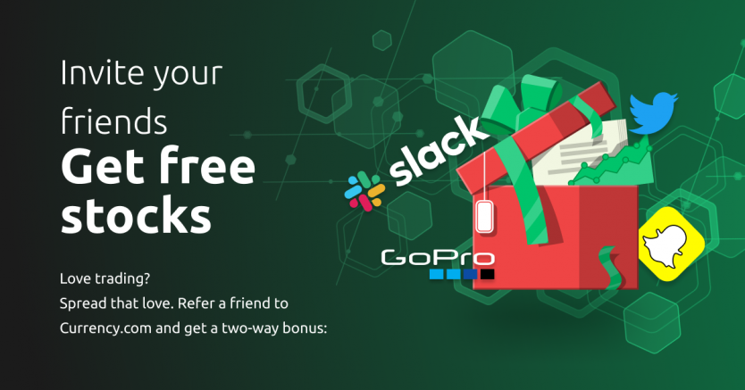 Invite your friends & receive free tokenised stocks!