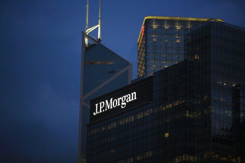 The JP Morgan building in Hong Kong on 1 October 2017