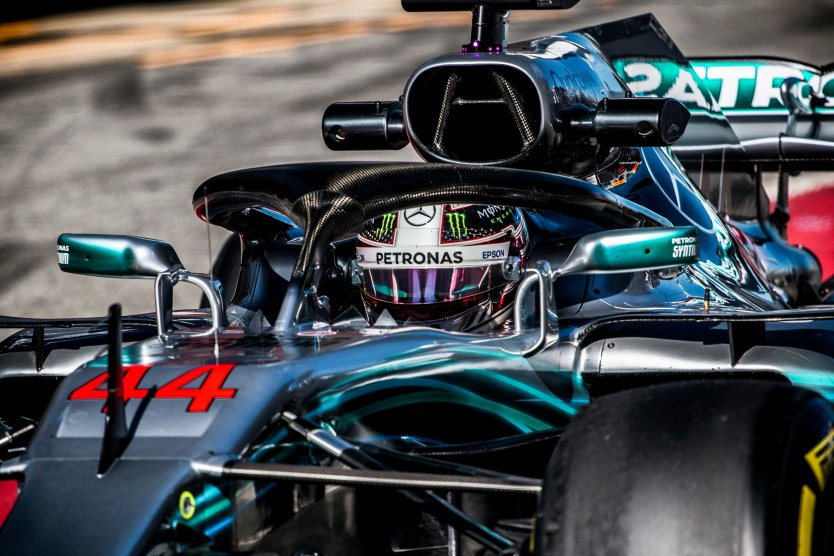 Lewis Hamilton in the Mercedes W09 F1 2018 car during the F1 winter testing at Circuit de Barcelona-Catalunya