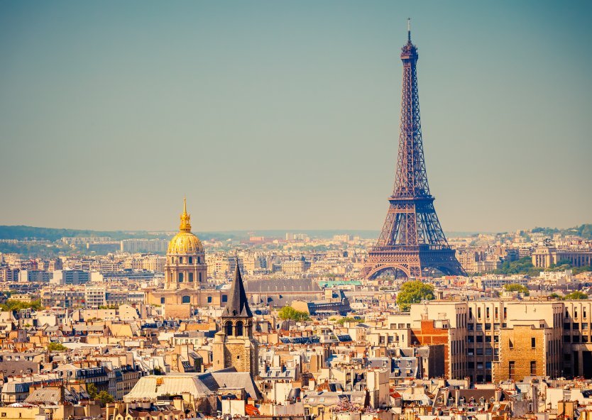 View of Paris, including the Eiffel Tower