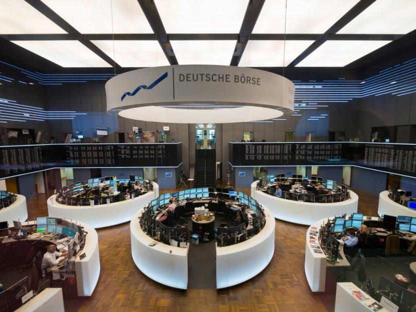 The trading floor of the Frankfurt Stock Exchange in Germany