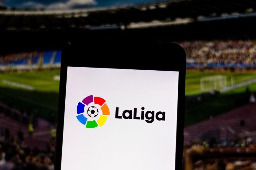 LaLiga logo at a stadium