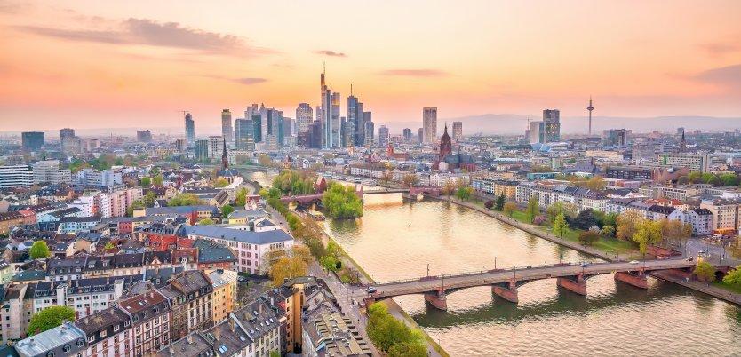 View of Frankfurt in Germany