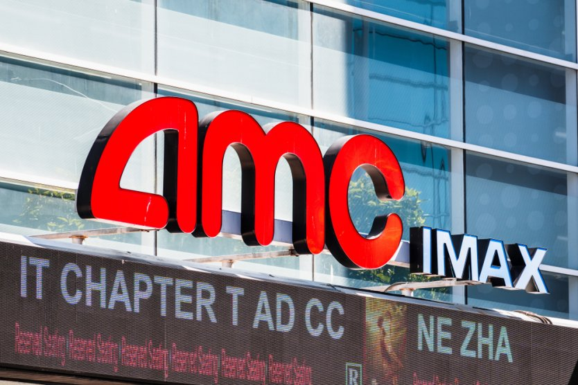 AMC IMAX logo above the entrance and box office in downtown San Francisco