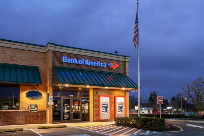 Bank of American branch in Oregon