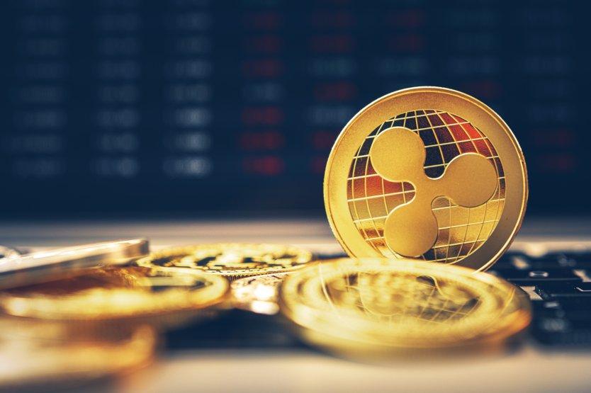 A gold ripple crypto coin
