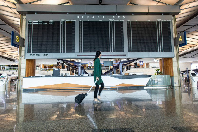 Changi International Airport in Singapore was closed during lockdown.
