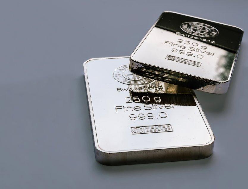 Two silver bullion bars