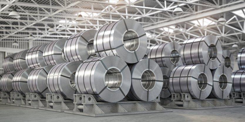 Rolls of processed nickel
