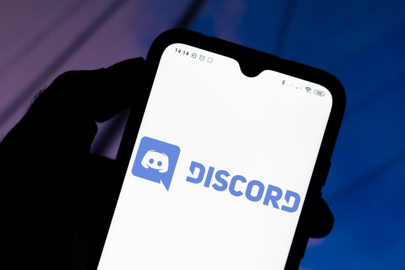 Discord logo seen on a smartphone