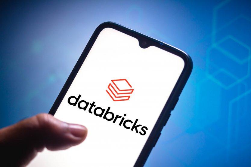 Databricks logo on a smartphone