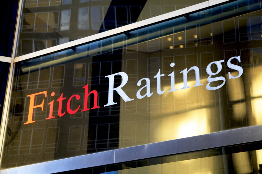 Fitch Ratings logo in Lower Manhattan