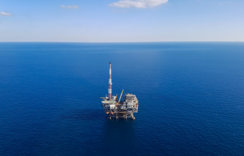 Oil platform in the Gulf of Mexico