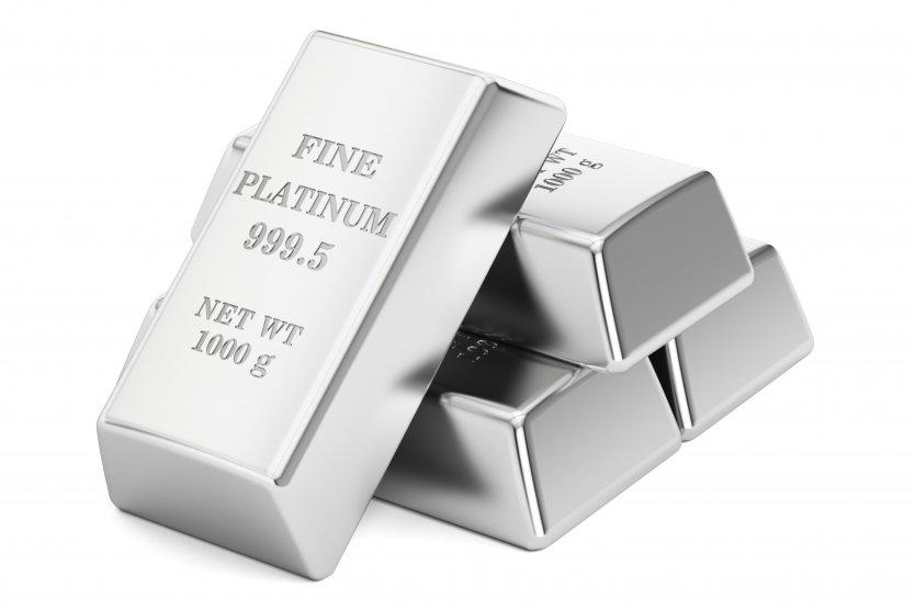 Four platinum bars piled up