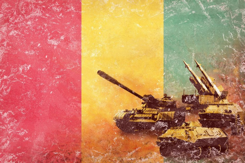 Military coup by tanks