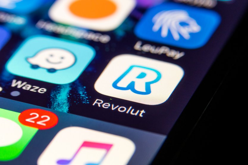 Revolut app on phone screen