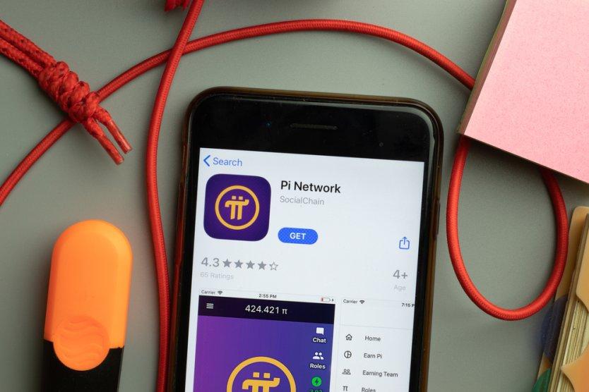 Illustrazione dell'app Pi Network su uno smartphone